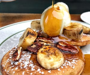 food, luxury, and pancakes image