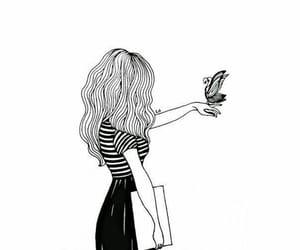 girl, black, and art image