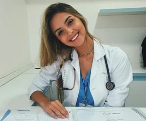 girl, beautiful, and doctor image