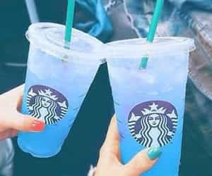 blue, starbucks, and iceddrink image