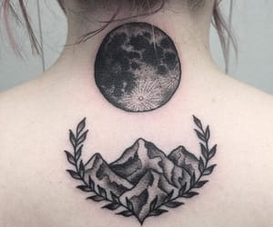 body, ink, and moon image