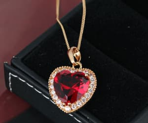 heart, red, and jewelry image