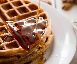 food, waffle, and yummy image