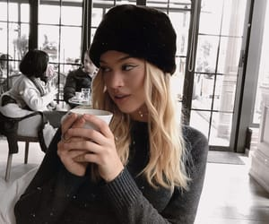 blondie, girl, and coffe image