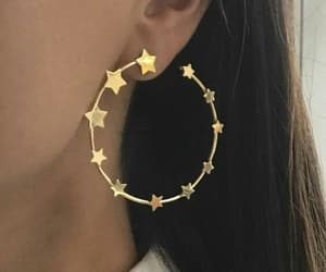 earrings, stars, and girl image