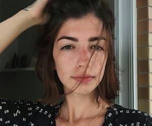 brunette, freckles, and girls image