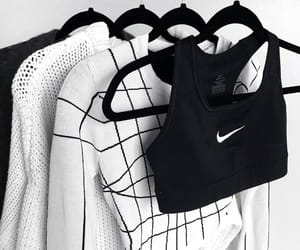 aesthetic, nike, and black and white image