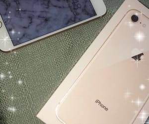 gold, iphone, and new phone image