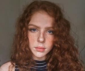 curly, freckles, and redhead image