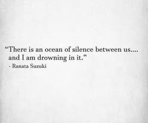 ocean, quote, and silence image