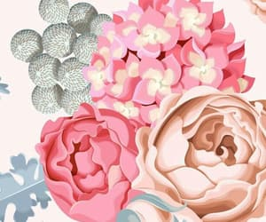 background, blue, and floral image