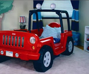 bed, cars, and kids image