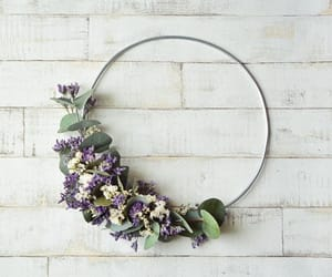 dried flowers, etsy, and half wreath image
