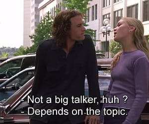 10 things i hate about you, quotes, and movie image