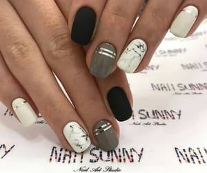 black, nails, and fashion image