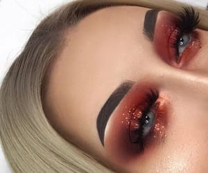 eyeshadow, goals, and red image