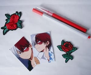 photography, red, and boku no hero image