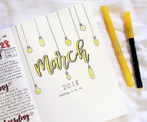 art, journal, and march image