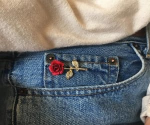 fashion, rose, and jeans image