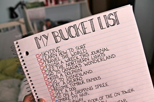 article and bucket list image