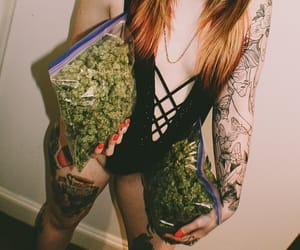 alternative, weed girls, and love image