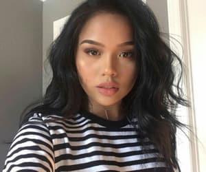 brunette, girl, and makeup image