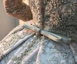 blue, Couture, and dress image