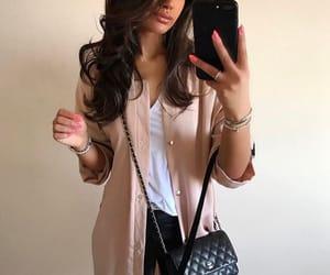 beige, black, and brunette image
