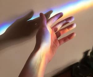 rainbow and hands image