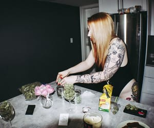 photographer, weed girls, and Tattoos image