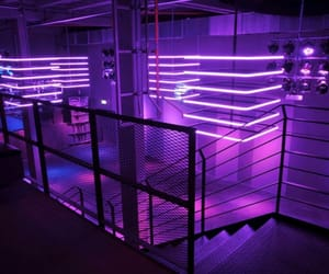purple, light, and neon image