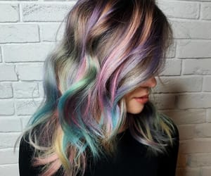 hair, hairstyle, and pink hair image