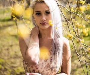 dress, flowers, and freckles image