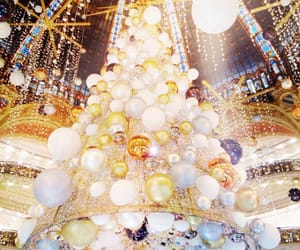 christmas, lights, and galeries lafayette image