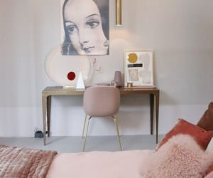 architecture, bed, and pink image