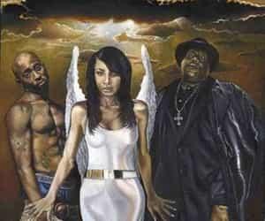 aaliyah, biggie, and pac image
