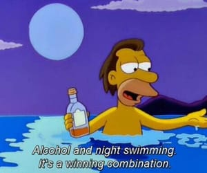 alcohol, the simpsons, and swimming image