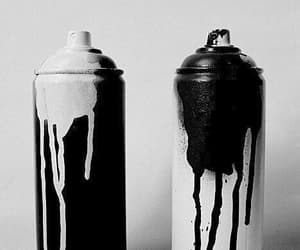 black, spray paint, and black and white image