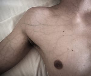 boy, veins, and palid image