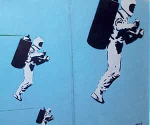 blue, street art, and babyblue image