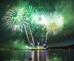 fireworks and green image