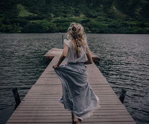 girl, nature, and dress image