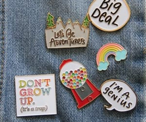aesthetic, pins, and rainbow image
