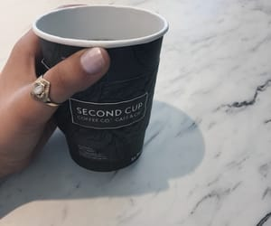 artsy, ring, and coffee image