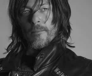 actor, black & white, and norman reedus image
