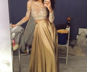 prom dress, 2 pieces, and selfie image