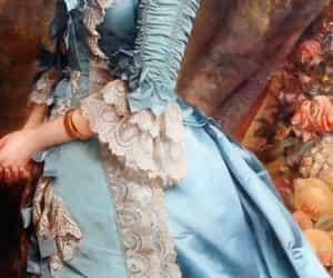 art, dress, and blue image