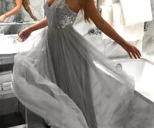 dress, maxi dress, and fashion image