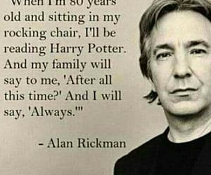 harry potter, alan rickman, and always image