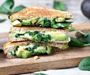 avocado, bread, and toast image